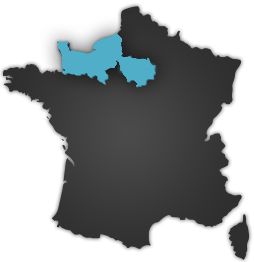 carte france region normandie ile-de-france